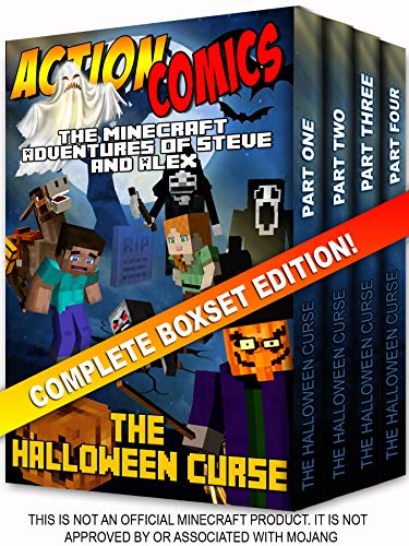 Action Comics Boxset: The Minecraft Adventures of Steve and Alex: The Halloween Curse - Complete Boxset Edition (Parts 1, 2, 3 &4) (Minecraft Steve and Alex Adventures) -