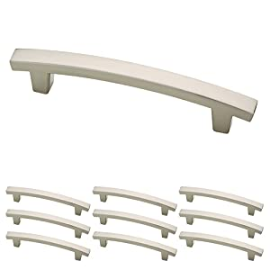 Franklin Brass P29615K-SN-B Satin Nickel 4-Inch Pierce Kitchen or Furniture Cabinet Hardware Drawer Handle Pull, 10 pack