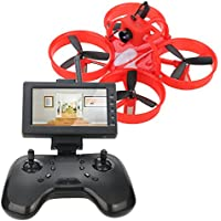 DLFPV Mini FPV RC Drone Equipped with HD 600TVL Camera Transmitter 4.3inch 5.8G 40CH LCD Monitor Receiver and 2.4Ghz 8CH Remote Controller 6-Axis Gyroscope RTF Racing Drone Quadcopter