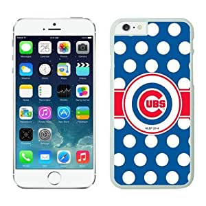 LarryToliver DIY Popular Phone Case Team Baseball Chicago Cubs for iPhone 6 Cases White(4.7 inch)