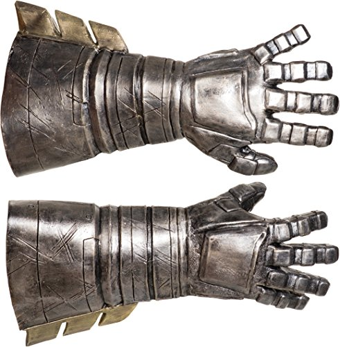 Rubie's Men's Batman v Superman: Dawn of Justice Batman Armored Latex Gauntlets, Black, One Size ()