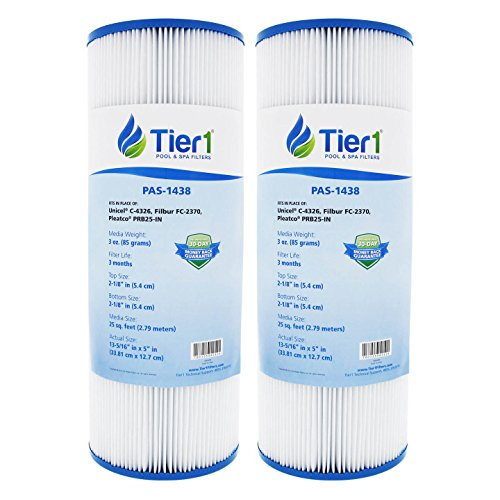 Tier1 Replacement for Dynamic 17-2327, Pleatco PRB25-IN, 817-2500, R173429, Unicel C-4326, Filbur FC-2375 Spa Filter Cartridge 2 Pack