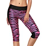 Anvoro Women's Summer Stretch Breathable 3D Printed Yoga Capri Sweatpants