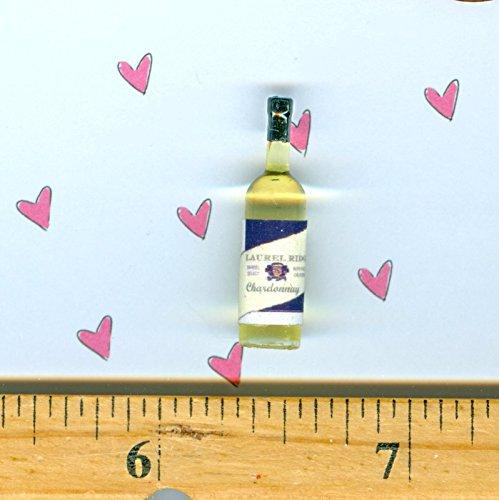 Dollhouse Miniature Size Laurel Ridge Chardonnay WINE Bottle - My Mini Fairy Garden Dollhouse Accessories for Outdoor or House Decor