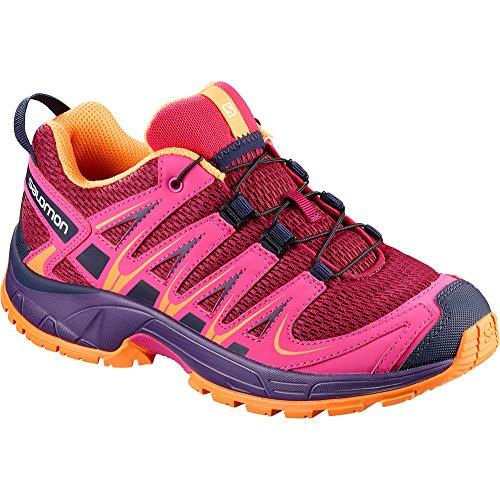 Salomon Kid's XA PRO 3D J Trail Running Shoes, Cerise, 5 Big Kid US