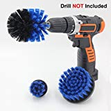 #2: Cooptop Medium Bristles Drill Brush Set - Power Scrubbing Drill Attachment - Bathroom & Kitchen Scrub Brush Cleaning Kit