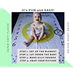 Baby-Milestone-Blanket-by-Nakie-Baby-Apparel-Accessories-Monthly-Blanket-Photo-Props-for-Babies-Unisex-Design-Ultra-Soft-Polyester-Fleece-Gray-Yellow-Mint-Includes-Small-Chalkboard-and-Chalk
