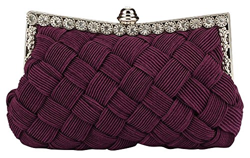 Ladies Women Handbag Evening purple Banquet Party Luxury Dinner Clutches Drasawee Satchels Bqxw51AdB