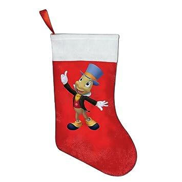 Calcetín de Navidad Pepito Grillo 1 temperamento Kids favorite Navidad medias de decoraciones de pared: Amazon.es: Hogar