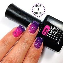 Gel Nail Polish - DIY Hard Nails - Shellac Nail Polish - Glamorous Color Changing, Glitters, and Shimmering Gel Nail Polish Colors - BONUS: FREE Gel Nail Salon E-BOOK Guide with Every Purchase (Pink Galaxy)