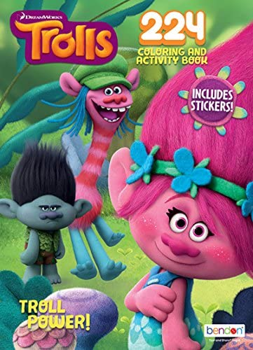 Bendon Dreamworks' Trolls Troll Power! 224-Page Coloring and Activity Book with Over 30 Stickers