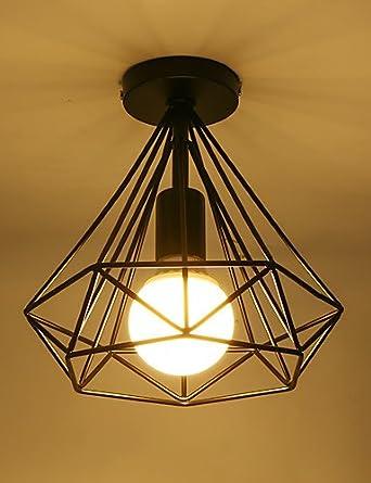 Vintage droplight ZSQ Simple mini Lámpara de techo Montaje ...
