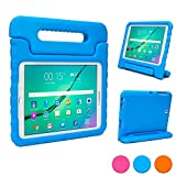 Samsung Galaxy Tab S2 9.7 kids case, COOPER DYNAMO Rugged Heavy Duty Children's Boys Girls Tough Drop Proof Protective Carry Case Cover + Handle, Stand & Screen Protector for SM-T810 T815 Blue