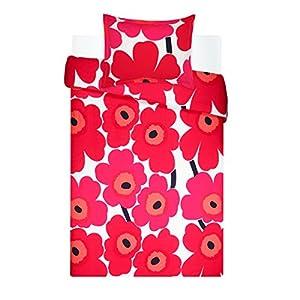 Marimekko 221454 Unikko Duvet Cover Set Red, Twin