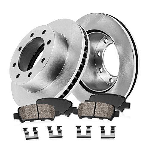 REAR 325.88 mm Premium OE 8 Lug [2] Brake Disc Rotors + [4] Ceramic Brake Pads + - Brakes Rear Install