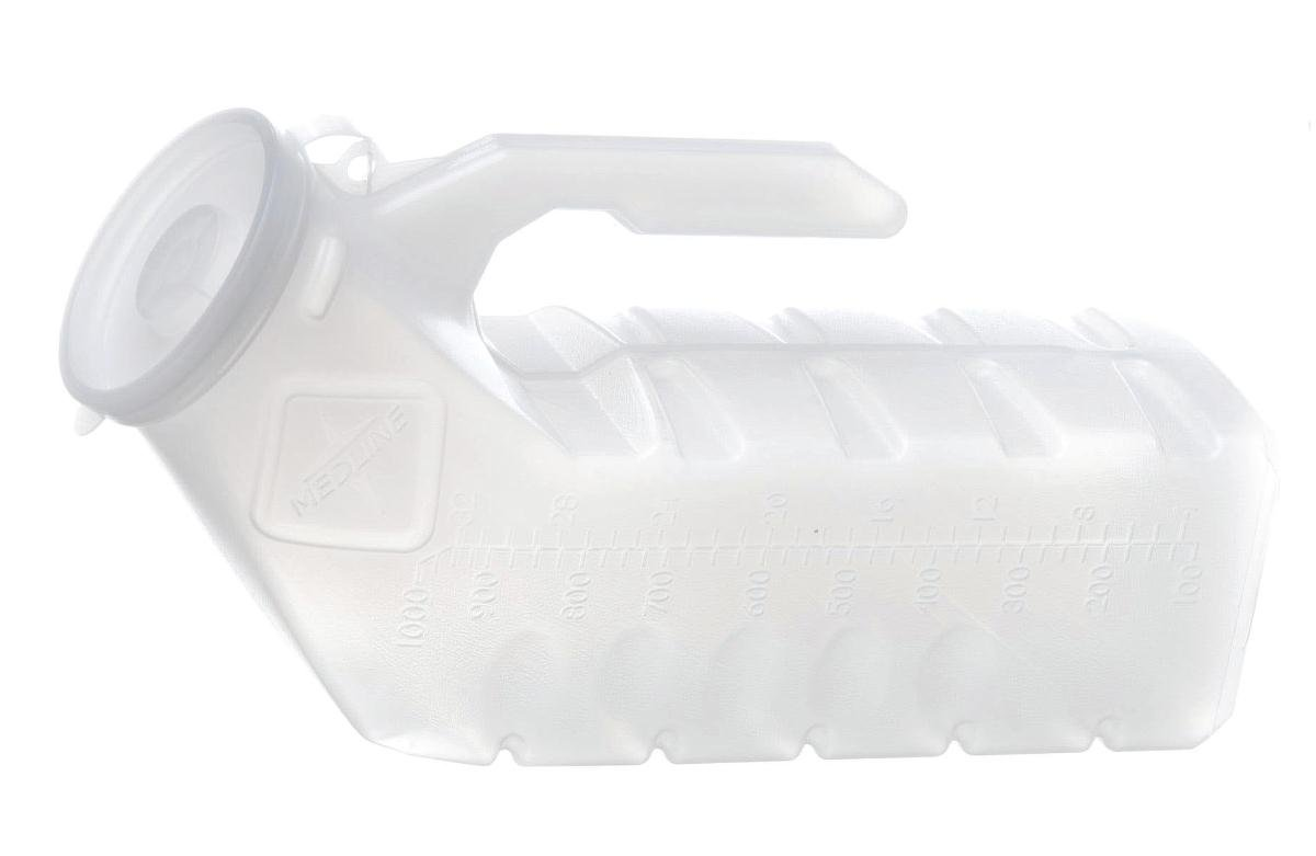 Medline DYND80234 Mini Male Urinals, 32 oz, Clear (Pack of 12) by Medline