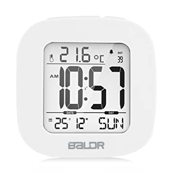 Zerodis Despertador Digital, Reloj Digital, LED Digital Alarma Despertador Reloj Impermeable Reloj Alarma Inteligente