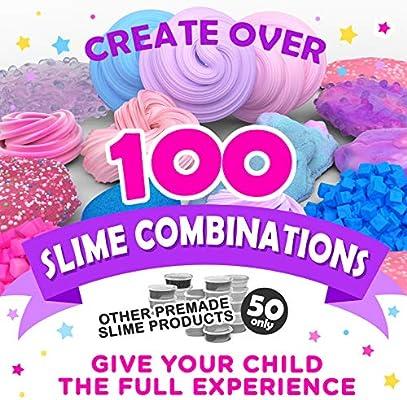 Original Stationery Slime Kit Unicornio Completo - Todo en una caja para que los niños y niñas hagan Slime - Suplementos para Slime de Unicornios, Purpurina, Arcilla Blanda, Plastilina, Floam Rosa: Amazon.es: