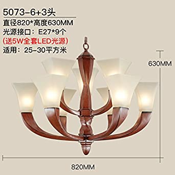 Sudeste asiático China resina antigua lámpara salón comedor dormitorio la escalera luces lámparas rústicas de hierro, 6 + 3,: Amazon.es: Iluminación