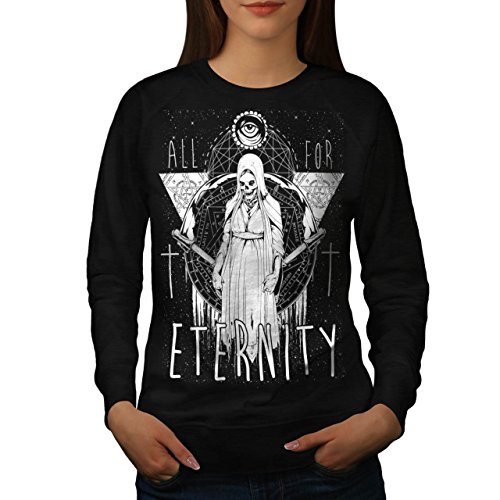 All For Eternity Fear Evil Queen Women NEW S Sweatshirt | Wellcoda (Voodoo Queen Costume)
