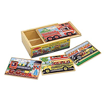 Melissa & Doug Wooden Jigsaw Puzzles in a Box - Vehicles: Melissa & Doug: Toys & Games