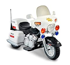 Little ones will rule the sidewalk with this kid-sized riding toy that can whiz along at up to 5 mph. Forward and reverse motions. Hand accelerator. Headlight, HAZARD light and signal light. Electronic sound. Storage box. Chromed details. Req...