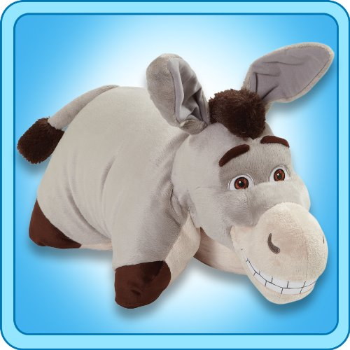 Pillow Pets My Authentic Dreamworks Donkey 18 Inch Folding Plush Pillow, Large