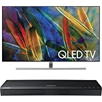 Samsung QN75Q7FAMFXZA Flat 75-Inch 4K Ultra HD Smart QLED TV w/ Samsung 3D Wi-Fi 4K Ultra HD Blu-ray Disc Player
