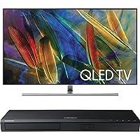 Samsung QN75Q7FAMFXZA Flat 75-Inch 4K Ultra HD Smart QLED TV w/ Samsung 3D Wi-Fi 4K Ultra HD Blu-ray Disc Player