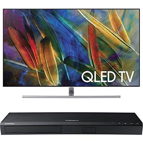Price comparison product image Samsung QN75Q7FAMFXZA Flat 75-Inch 4K Ultra HD Smart QLED TV w/ Samsung 3D Wi-Fi 4K Ultra HD Blu-ray Disc Player