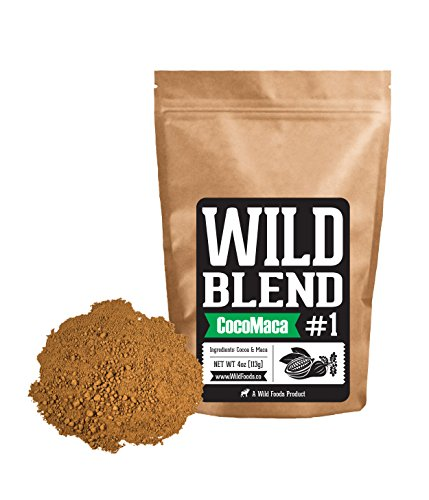 Wild Blend #1 Powder Mix With Cocoa Powder and Raw Maca Powder for Smoothies, Shakes, Coffee, Baking - Health, Performance, Nootropic (#1 CocoMaca - 8 oz)