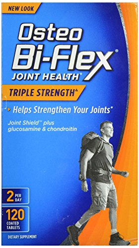 Osteo Bi-Flex Triple Strength Coated Tablets (Pack of 120), Joint Health* Supplements with Glucosamine & Vitamin C, Gluten Free (Health Supplement Joint)