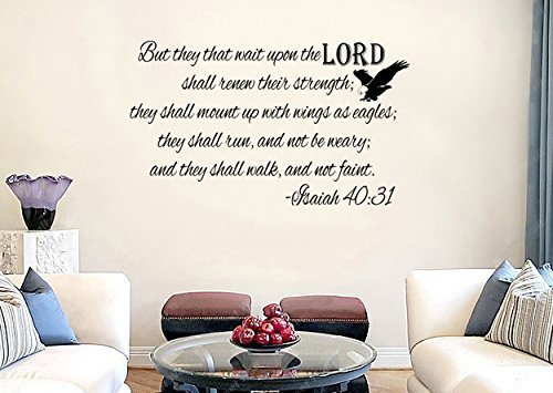 Isaiah 40:31 KJV Bible Verse Vinyl Wall Decal Sticker Art