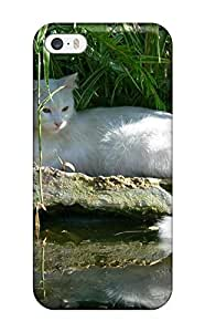 ZippyDoritEduard Fashion Protective Regal White Cat Case Cover For Iphone 5/5s