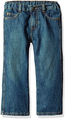 Wrangler Toddler Boys' Authentics Bootcut Jean, Rustic Blue, (Authentic Boots)