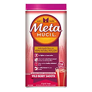 Metamucil Daily Fibre Supplement Wild Berry Smooth, 114 Doses
