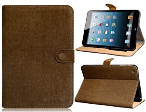 Matte Faux Leather & Silicone Stand Protective Case with Magnetic Closure for iPad Mini