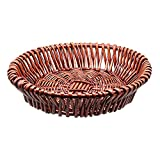 HsingsJ Handmade Wicker Bread Basket Tray Food Tabletop Serving Basket for Restaurant different styles