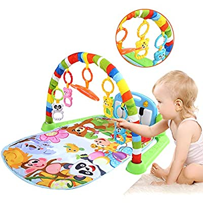 Baby Fitness Play Mat Musical Piano Keyboard Gym Carpet Educational Toy for 0-18M Kids : Baby
