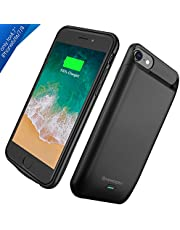 """iPhone 8/7 / 6S Battery Charger Case, Newdery 5000mAh Rechargeable External Portable Power Charging Case for (4.7"""") iPhone Built-in Magnet Metal Supported Lightning Headphones –Black"""