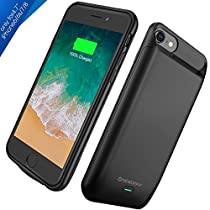 iPhone X Battery Case, Newdery iPhone X 6000mAh Slim Rechargeable Charging Case with Sync Through, Portable Extended Protective Car Charger Case Compatible iPhone X/10 [ Lightning Charging Port ]