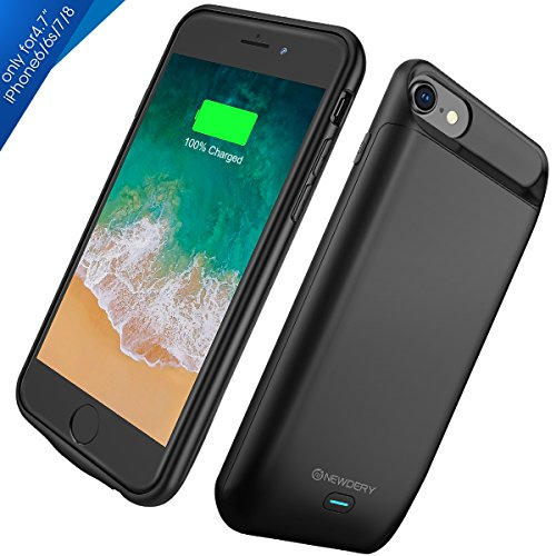 iPhone 8/7/6S Battery Case,Newdery iPhone 8 7 6S Charger condition 5000mAh Rechargeable External handheld ability Charging condition for iPhone 8/7/6S(4.7