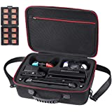 Zadii Hard Carrying Case Compatible with Nintendo Switch, Travel Case fit Gamecube Controller and Pro Controller