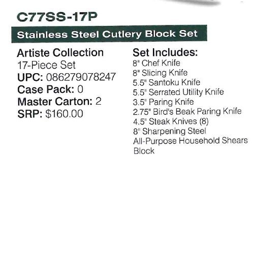 Cuisinart-C77SS-17P-17-Piece-Artiste-Collection-Cutlery-Knife-Block-Set-Stainless-Steel