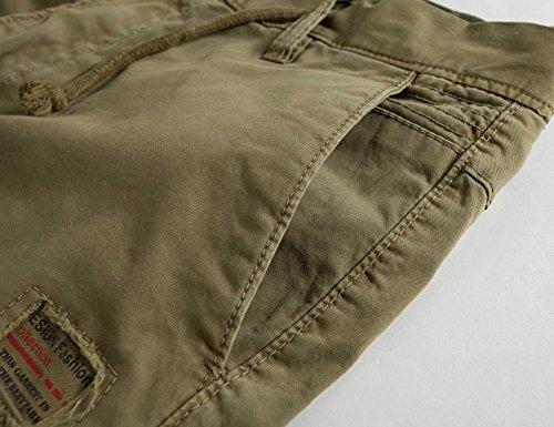 3d6bd3d531 Eaglide Mens Casual Cargo Shorts, Mens Slim Fit Athletic Biking Casual  Chino Shorts (Khaki