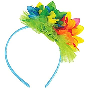 Tropical hibiscus flower headband