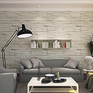 Hanmero rural style imitation brick wall pattern looks for Vinyl imitation carrelage