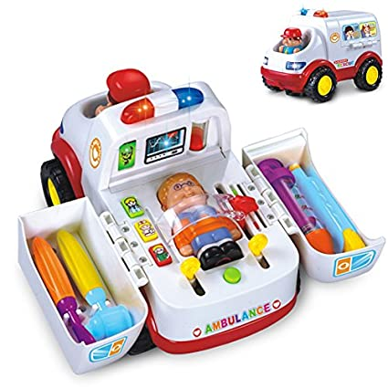 Buy GoAppuGo Doctor Set Kit Play Toys With Musical Learning Ambulance Car Toy