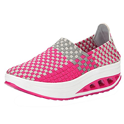 Scarpe Pu Women Estate Lace Respirante Da Running Shoes Moda Sport Breathable up Scarpa Rosacaldo Outdoor Donna Ginnastica Zeppa Donne Ihengh 2019 Casual Sneakers 104Pp