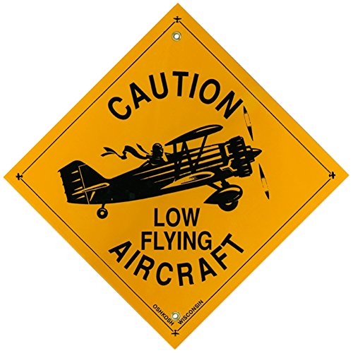 Caution Low Flying Aircraft - Metal Sign